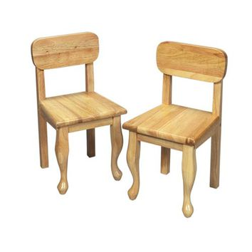 Gift Mark 3003N Queen Anne Two Chair Set - Natural