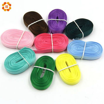 6MM x 4M Colorful Rib Belt Ribbon Grosgrain Ribbon Packing Tape For Handmade Jewelry DIY Hair Bow & Sewing Accessories