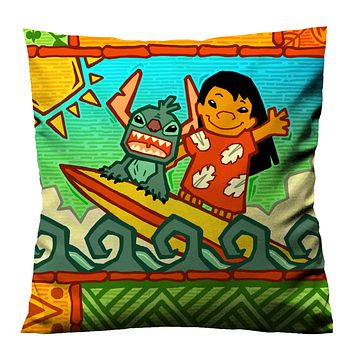 LILO STITCH CUTE Cushion Case Cover
