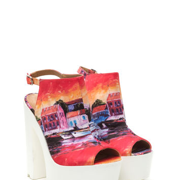 Watercolor Wonder Lug Heels