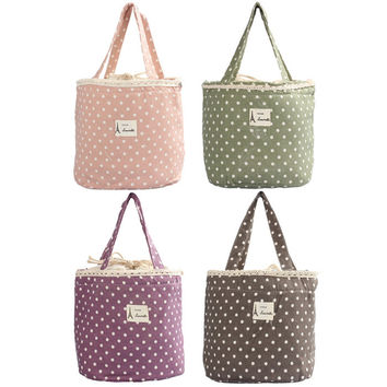 Thermal Insulated Lunch Box Cooler Bag Bento Pouch Lunch Container for Food Factory Price 4 Candy Colors