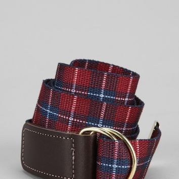 Plaid Web Belt - Urban Outfitters