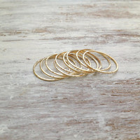 Knuckle rings set of 5, knuckle rings, Stacking ring, size 3.5 US , knuckle rings, thin ring, hammered ring, tiny ring- RR2
