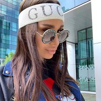GUCCI Sport Crochet Knit Knitted Headwrap Headband Warmer Head Hair Band