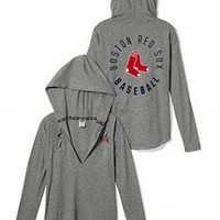 Boston Red Sox Oversized Pullover Hoodie - PINK - Victoria's Secret