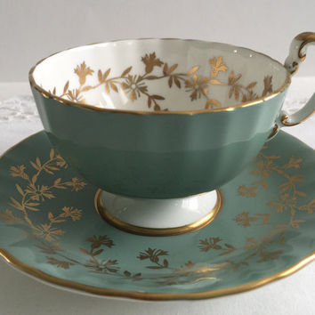 Sage Oban Aynsley China Tea Cup & Saucer
