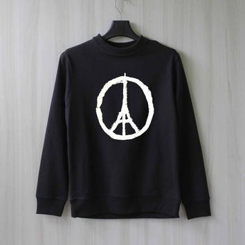 Pray for Paris Sweatshirt - Paris peace Sweater Shirt – Size XS S M L XL