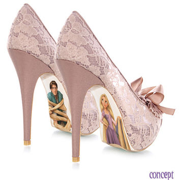 Custom hand painted Rapunzel pumps