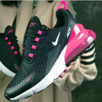 NIKE Air Max 270 Women Fashion Contrast Sneakers B-CSXY / B-CQ-YDX  Black&Pink