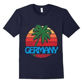 Hello From Germany: Funny Palm Tree Beach T-Shirt