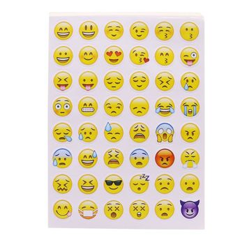 10 Sheet 480 Emoticons Smiley Diary Sticker  New Office & School Supplies Stationery Stickers Affixed Waterproof Face Sticker