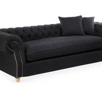 "Sofa Tufted French 95"", Sofas & Loveseats"