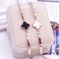 New fashion rose gold four clover bracelet couple jewelry