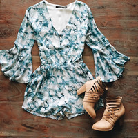 A Watercolor Romper in Blue