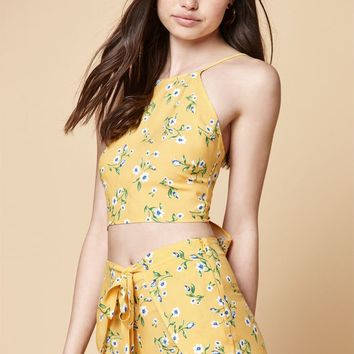 Kendall and Kylie Tie Back Halter Top at PacSun.com