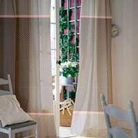 Window curtains / Nursey curtains / Kids curtains / Gray white and pink polka dot and stripes curtains / Select size / Tab tops or Clips