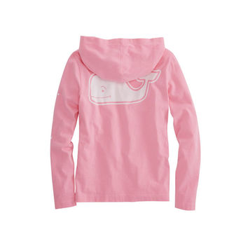 Girls Long-Sleeve Vintage Whale Hoodie Pocket Tee