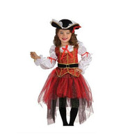 Halloween Christmas pirate costumes fantasy girls party cosplay costume for children kids clothes