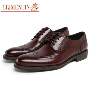 Fashion British style classic vintage men oxford leather shoes black brown mens casual shoe office