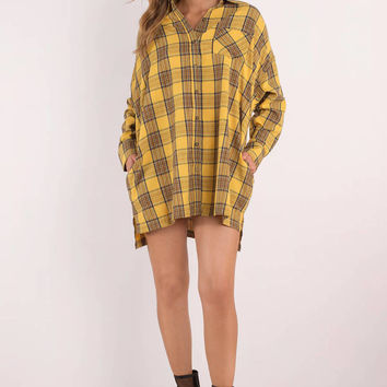 Plaid To The Bone Tunic Top