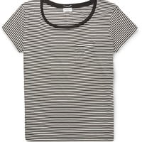 Saint Laurent - Striped Silk-Blend T-Shirt | MR PORTER