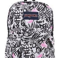 JanSport Superbreak Backpack, Pink Pansy Wanderlust