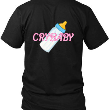 Cry Baby Baby 2 Sided Black Mens T Shirt