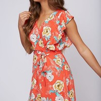 Summer Ruffle Sleeve Dress