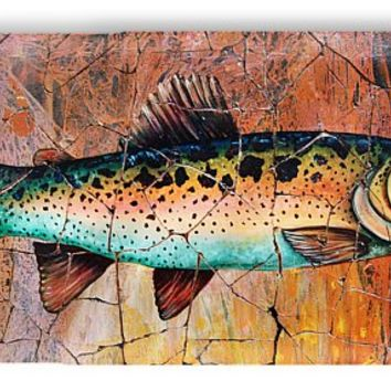 Vintage Red Trout Fresco IPhone 7 Case