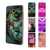anime Cheshire Cat alice in wonderland hard clear phone Case for Samsung Galaxy J5(2017) J7(2017) J510 J710 J2 Prime J3 2016 J1