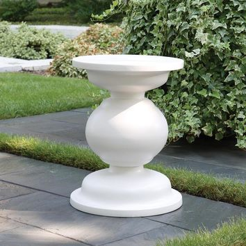 Balustrade Stool Matte White