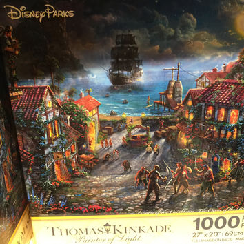 disney parks kinkade pirates of the caribbean black pearl puzzle 1000 new w box