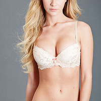 Floral Lace Push-Up Bra