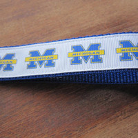 University of Michigan Keychain Wristlet