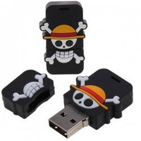 One Piece Pirate Warriors Manga : USB 8 GB Flash Drive Memory - Luffy Flag Crossbones LIMITED!!! 1Pcs