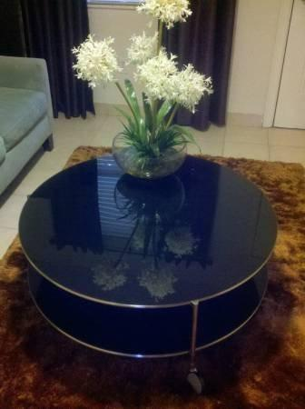 Ikea Strind Coffee Table In BLACK Glass From Krrb Local - Strind coffee table