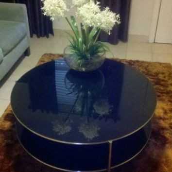 "Ikea ""Strind"" Coffee Table in BLACK Glass"