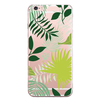 Fresh Leaves Printed Case for iPhone 6 7 7 Plus