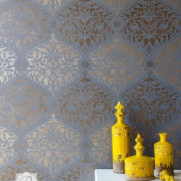 Moroccan Mughal Trellis Stencil for Wall Stenciling and Wallpaper Decorating