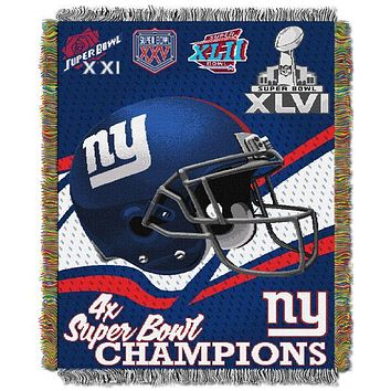 "New York Giants NFL Commemorative 48""x 60"" Woven Tapestry Throw"