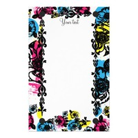Large Floral Print Stationery