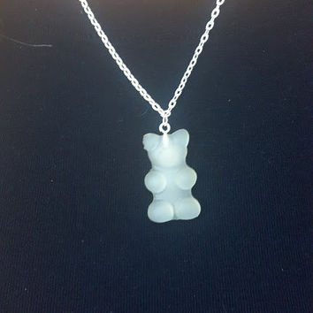 White Gummi Bear Necklace White Gummy Bear Necklace  Great Stocking Stuffer