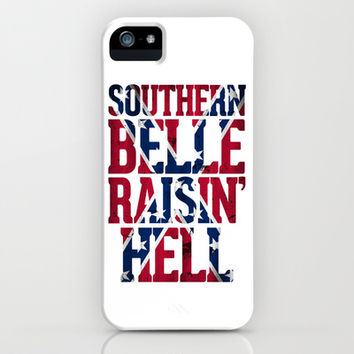 Southern Belle Raisin Hell iPhone & iPod Case by RexLambo