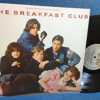 "RARE, Vintage, ""The Breakfast Club"" - Original Soundtrack, Vinyl LP, Record Album, Brat Pack, John Hughes, Keith Forsey, Simple Minds"
