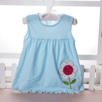 Free shipping Baby Dresses Princess Girls Dress 0-18month Cotton Clothing Dress Summer Clothes For Infant Newborn Girl