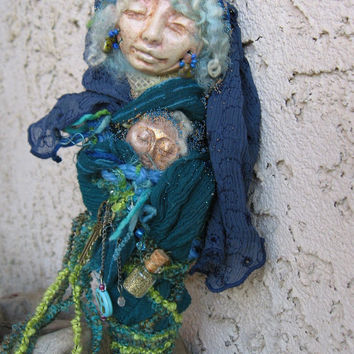 Tara Goddess of Peace. Zen Serenity Spirit art doll ooak