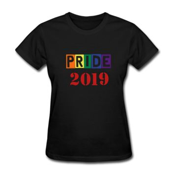 "Women's ZMK Style T-Shirt ""PRIDE 2019"" LGBTQ Shirt (S-2XL) 14Colors"