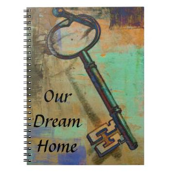 Our Dream Home Notebook Journal with Key
