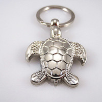 turtle keychain,silver keychain, Christmas gifts, friendship gift, the best gift choice trend accessories