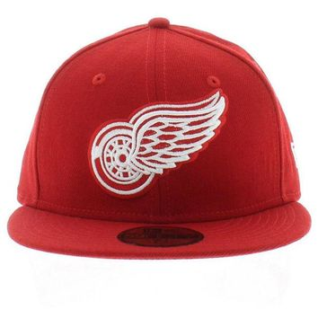 ONETOW NHL Detroit Red Wings Team Colors 59FIFTY Fitted Hat